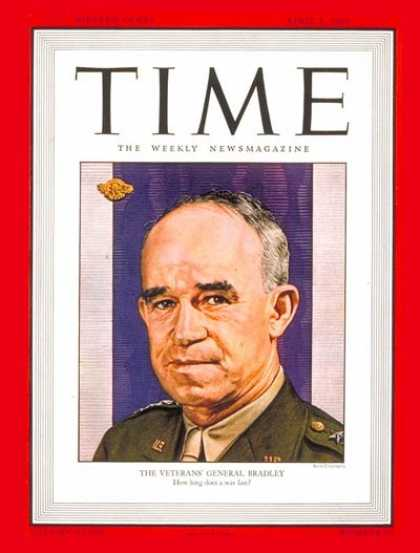 Time - General Omar Bradley - Apr. 1, 1946 - Omar Bradley - Army - Generals - Military