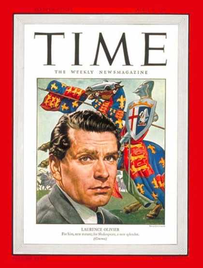 Time - Laurence Olivier - Apr. 8, 1946 - Actors - Theater - Movies