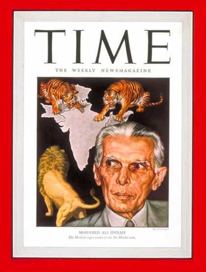 Time - Mohamed Ali Jinnah - Apr. 22, 1946 - India - Law