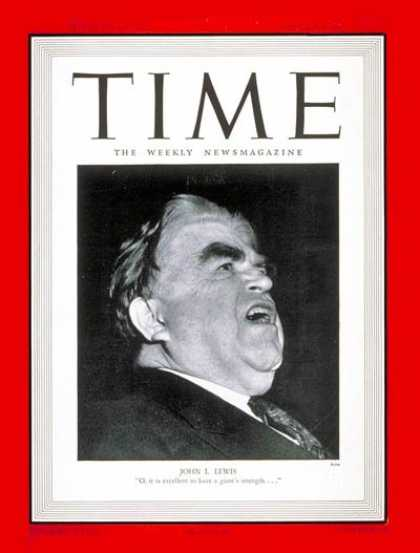 Time - John J. Lewis - May 20, 1946 - Mine Workers - Labor Unions - Business