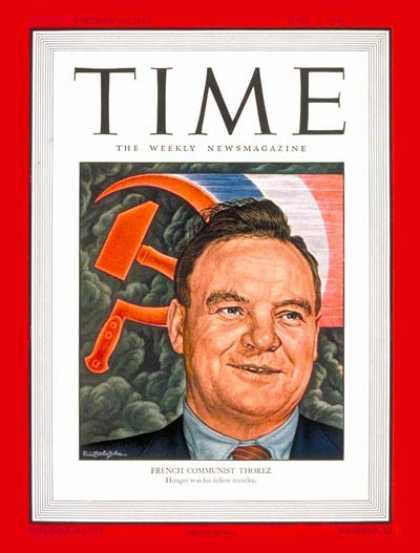 Time - Maurice Thorez - June 3, 1946 - Communism - Politics
