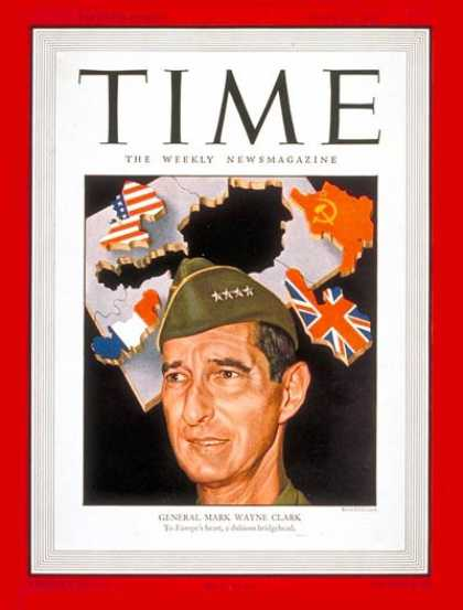 Time - General Mark W. Clark - June 24, 1946 - General M. W. Clark - Army - Generals -