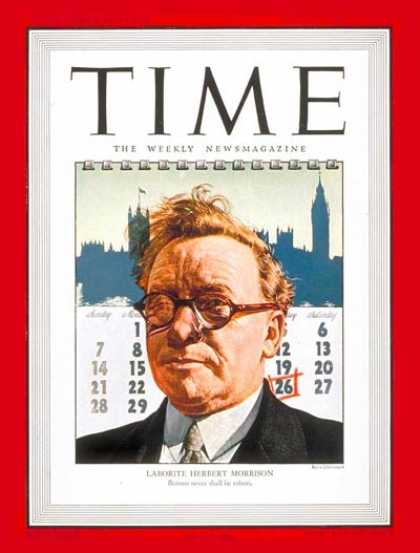 Time - Herbert Morrison - July 29, 1946 - Great Britain