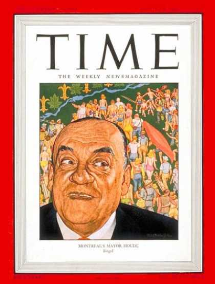 Time - Camillien Houde - Aug. 5, 1946 - Canada - Montreal - Mayors