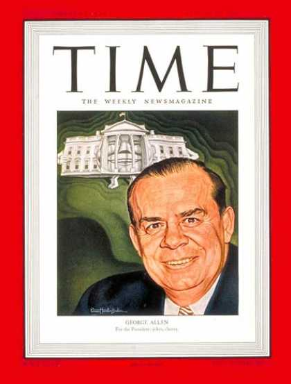 Time - George E. Allen - Aug. 12, 1946 - Congress - Senators - Politics