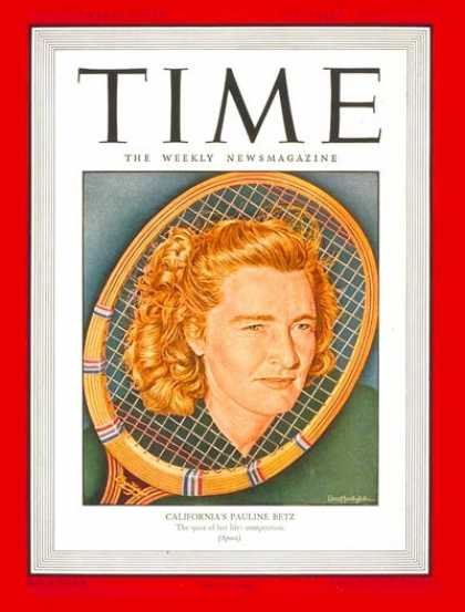 Time - Pauline Betz - Sep. 2, 1946 - Tennis - Sports