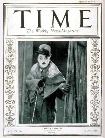Time - Charlie Chaplin - July 6, 1925 - Actors - Comedy - Most Popular
