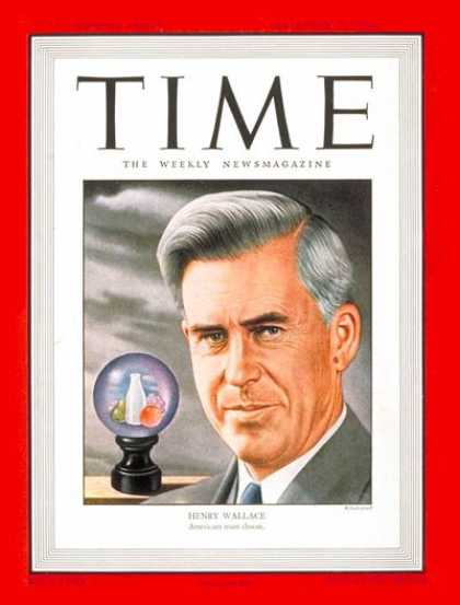 Time - Henry Wallace - Sep. 30, 1946 - Journalism - Agriculture