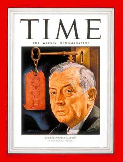 Time - Governor Ed Martin - Oct. 28, 1946 - Governors - Politics