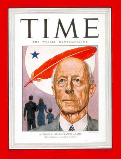 Time - Charles Francis Adams - Nov. 4, 1946 - Politics