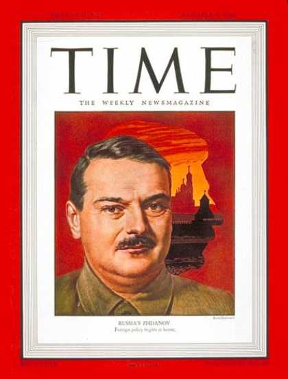 Time - Andrei A. Zhdanov - Dec. 9, 1946 - Russia - Communism