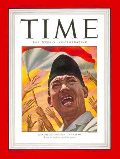 Time - Soekarno - Dec. 23, 1946 - Sukarno - Indonesia - World Leaders