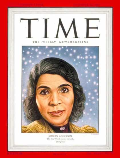 Time - Marian Anderson - Dec. 30, 1946 - Opera - Singers - Music