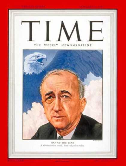 Time - James F. Byrnes, Man of the Year - Jan. 6, 1947 - James F. Byrnes - Person of th