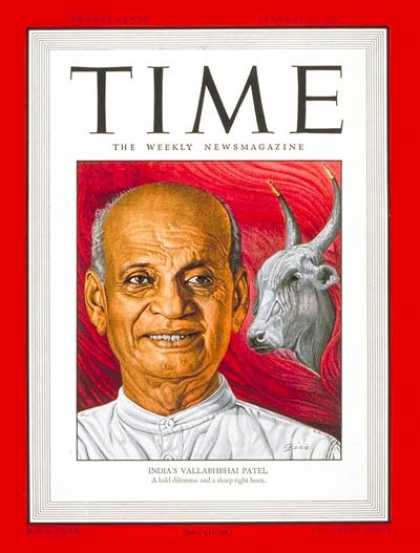 Time - Vallabhbhai Patel - Jan. 27, 1947 - India