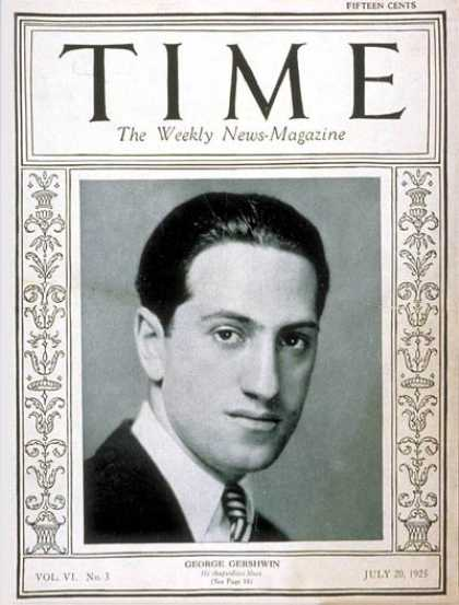 Time - George Gershwin - July 20, 1925 - Composers - Classical Music - Opera - Theater