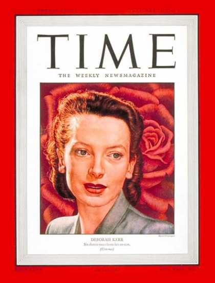 Time - Deborah Kerr - Feb. 10, 1947 - Actresses - Theater - Movies