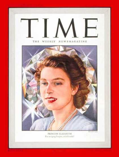 Time - Princess Elizabeth - Mar. 31, 1947 - Queen Elizabeth II - Great Britain - Royalt