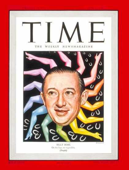 Time - Billy Rose - June 2, 1947 - Theater - Music - Producers