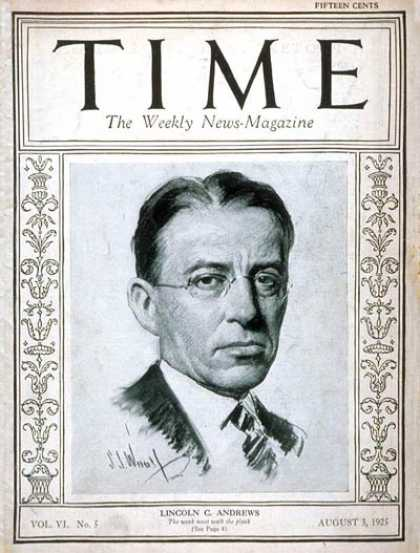 Time - Lincoln C. Andrews - Aug. 3, 1925 - Prohibition - Military
