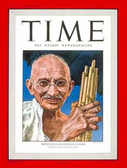 Time - Mohandas Gandhi - June 30, 1947 - India - Philosophers - M.K. Gandhi - Revolutio
