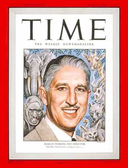 Time - Marlin Perkins - July 7, 1947 - Television - Zoos - Wildlife - Broadcasting