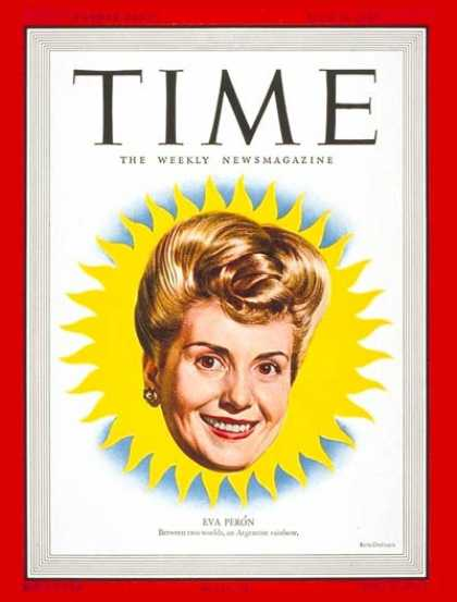 Time - Eva Peron - July 14, 1947 - Argentina - Latin America