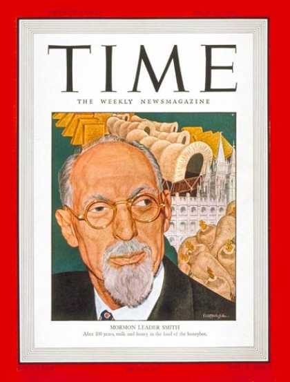 Time - George A. Smith - July 21, 1947 - Religion - Mormons