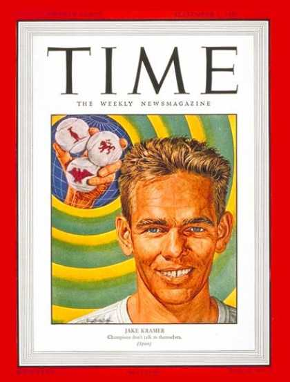 Time - Jake Kramer - Sep. 1, 1947 - Tennis - Sports