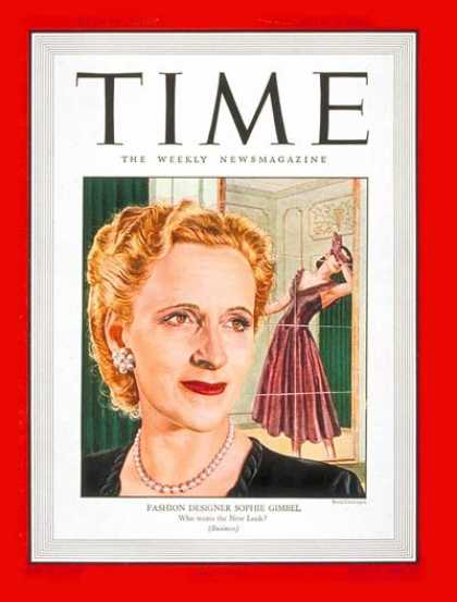 Time - Sophie Gimbel - Sep. 15, 1947 - Fashion - Design - Women