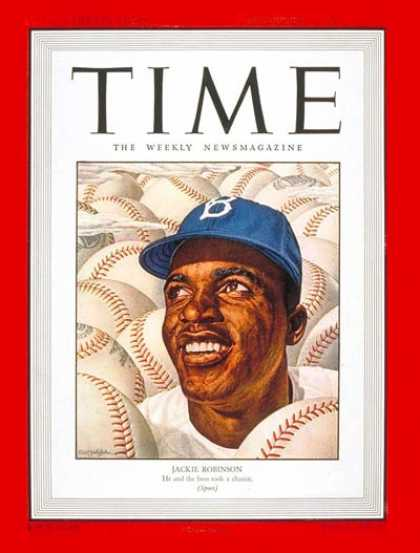 Time - Jackie Robinson - Sep. 22, 1947 - Baseball - Blacks - Most Popular - Sports