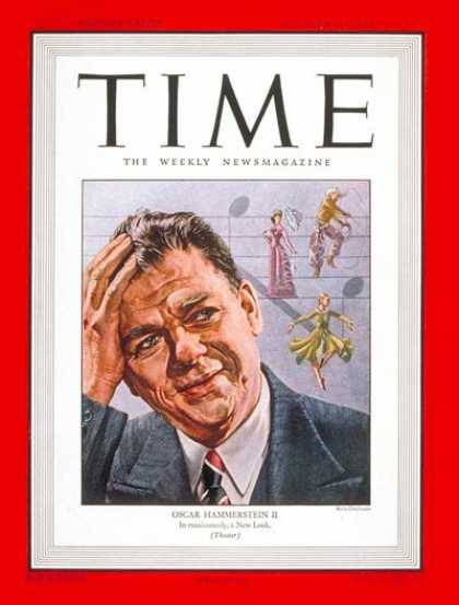 Time - Oscar Hammerstein II - Oct. 20, 1947 - Composers - Broadway - Theater - Music