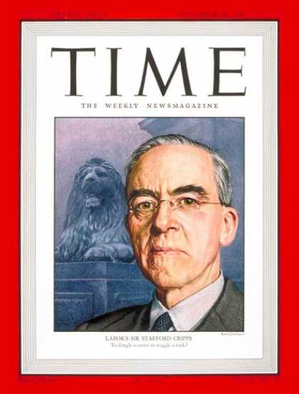 Time - Sir Stafford Cripps - Nov. 10, 1947 - Stafford Cripps - Great Britain
