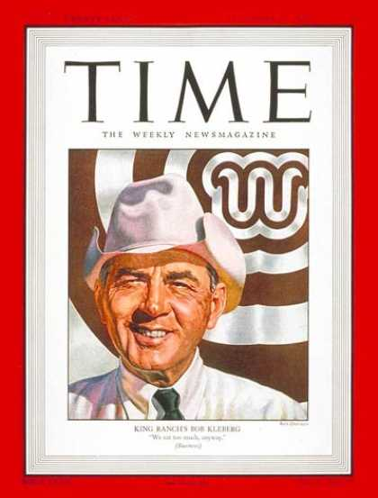 Time - Robert J. Kleberg, Jr. - Dec. 15, 1947 - Agriculture - Genetics