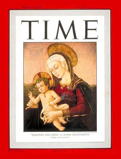 Time - Madonna and Child - Dec. 29, 1947 - Mary - Jesus - Painters - Religion - Art