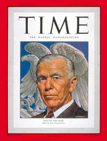 Time - George C. Marshall, Man of the Year - Jan. 5, 1948 - George Marshall - Person of
