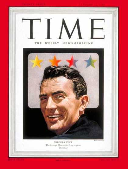 Time - Gregory Peck - Jan. 12, 1948 - Actors - Movies