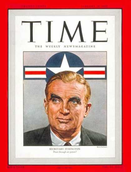 Time - W. Stuart Symington - Jan. 19, 1948 - Air Force - Military