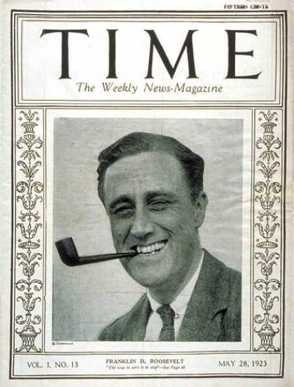 Time - Franklin D. Roosevelt - May 28, 1923 - Governors - Politics - New York
