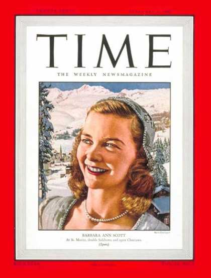 Time - Barbara Ann Scott - Feb. 2, 1948 - Canada - Sports - Figure Skating - Women