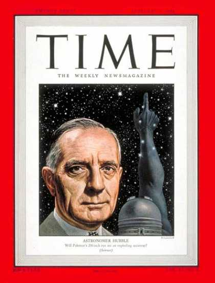 Time - Edwin P. Hubble - Feb. 9, 1948 - Astronomy - Telescopes - Science & Technology