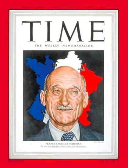 Time - Robert Schuman - Mar. 1, 1948 - France - Premiers