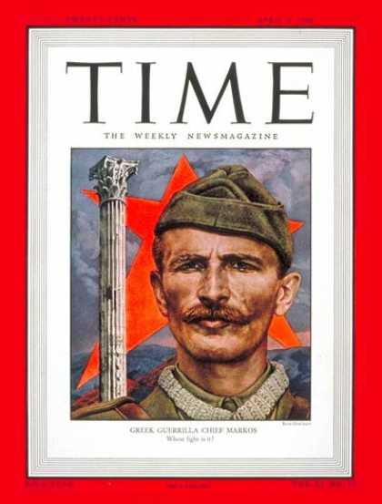 Time - Markos Vafiades - Apr. 5, 1948 - Greece - Military