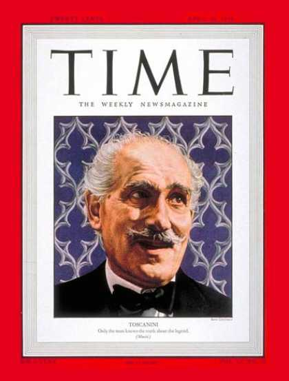 Time - Arturo Toscanini - Apr. 26, 1948 - Conductors - Classical Music - Music