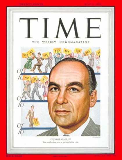 Time - George Gallup - May 3, 1948 - Journalism - Polls - Media