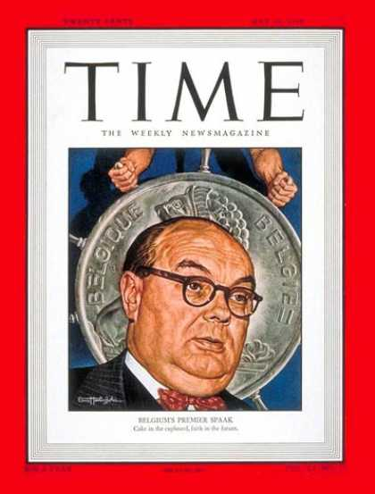 Time - Paul-Henri Spaak - May 10, 1948 - Belgium