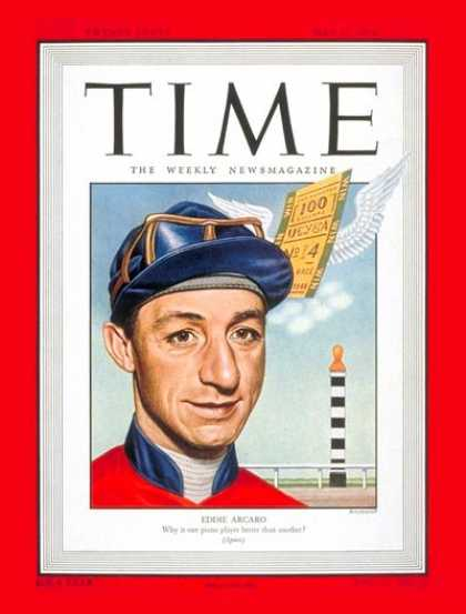 Time - Eddie Arcaro - May 17, 1948 - Horse Racing - Sports