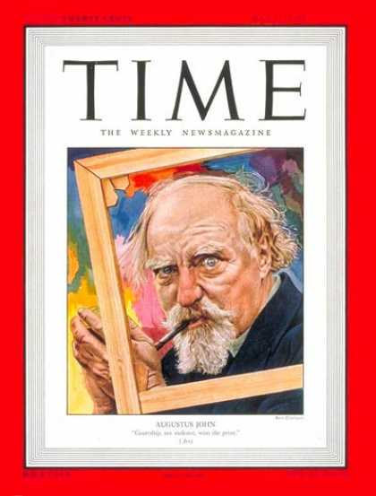 Time - Augustus E. John - May 31, 1948 - Painters - Art