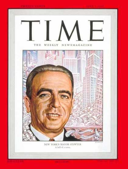 Time - Mayor William O'Dwyer - June 7, 1948 - Mayors - Cities - New York - Politics