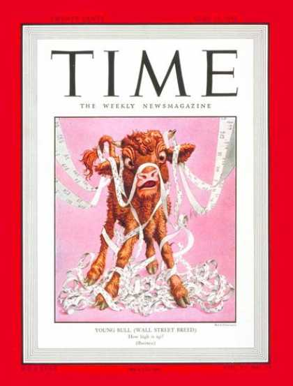 Time - Wall Street Bull - June 14, 1948 - Wall Street - Economy
